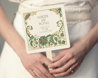 Wedding Programs, Wedding Menus, Order of Service, Hand Fans, Vintage Wedding Programs, Wedding Program, Ceremony Program, Wedding Hand Fans