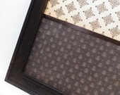Magnet Board-Dry Erase Board-Magnetic Memo Board-Wall Decor - Organization-Framed Memo Board-Diamond Pattern Split Design-Incl Magnets