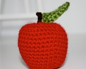 Custom Order for hhinkle---Crochet Red Apple