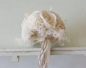 lace and twine flower girl wand