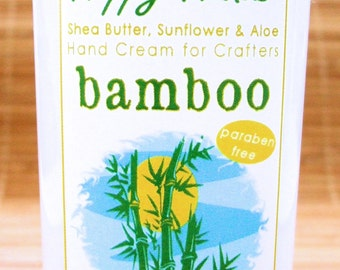 Fresh Bamboo Scented Hand Cream for Knitters - 8oz Jumbo HAPPY HANDS Shea Butter Hand Lotion