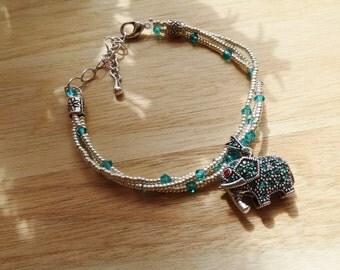 50% DISCOUNT - Silver Elephant Charm Bracelet