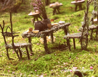 Fairy Twig Table Postcard x 5