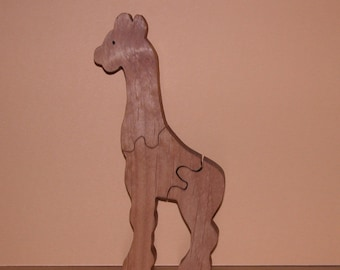 Child's Toy Giraffe Puzzle - Kids Decor