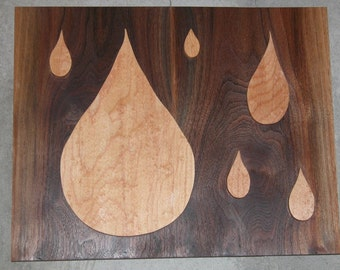 Rain Drop Wall Art - Wooden Wall Hanging - Home Decor - Office Decor - Contemporary Look