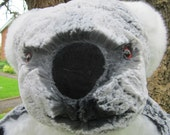Giant Koala Toy Grey White Plush Collectable ColdhamCuddlies Bear Seeks Adoption Unusual Mascot Special Attraction Friendly Companion Toy