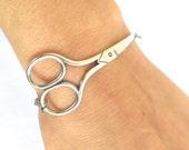 Steampunk Shears Bracelet- Scissor Bracelet- Sterling Silver Ox Finish