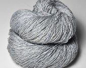 Tarnished white gold - Tussah Silk Fingering Yarn