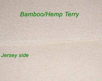 Hemp/Bamboo French Terry Fabric, 10 yards