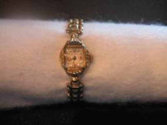 Vintage 1940's Elbon Ladies Wind Up RGP Wrist Watch