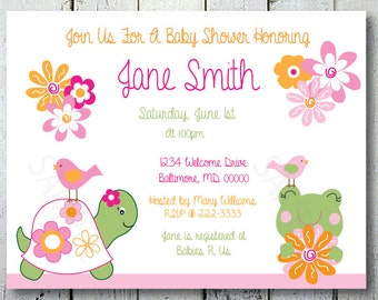 Pond Dreams, Shower or Birthday Invitations, Set of 10 Professionally Printed