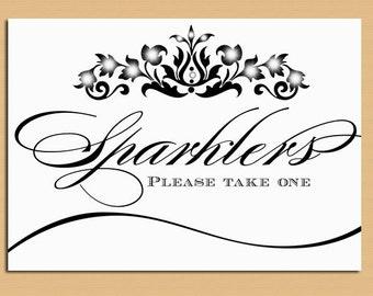 Sparklers Wedding Sign -  Sparkler Table Sign - Sparkler Send Off - Wedding and Event Signage