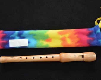 Tie-Dyed Fleece Recorder Cover Sleeve