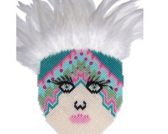 Plastic Canvas Face Mask Kitty PDF Pattern  Instant Download