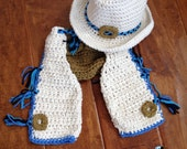 Cowboy Crochet Hat and Chaps with Diaper Cover