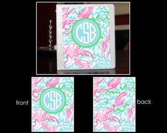 LR~Personalized Monogram Notebook Insert for 3 Ring Binder or Printable