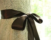 Brown wedding sash, autumn bridal sash, bridesmaid sash, flower girl sash, bridal belt, 2.25 inch satin