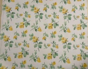 Vintage Wallpaper - Yellow Roses - 1 Yard