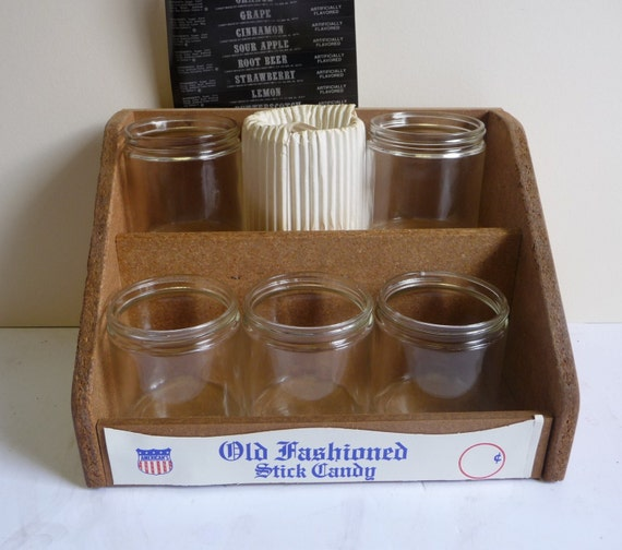 Vintage Candy Stick Store Counter Display Old Fashioned 2