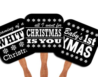 D.I.Y. Printable photo booth props: Christmas