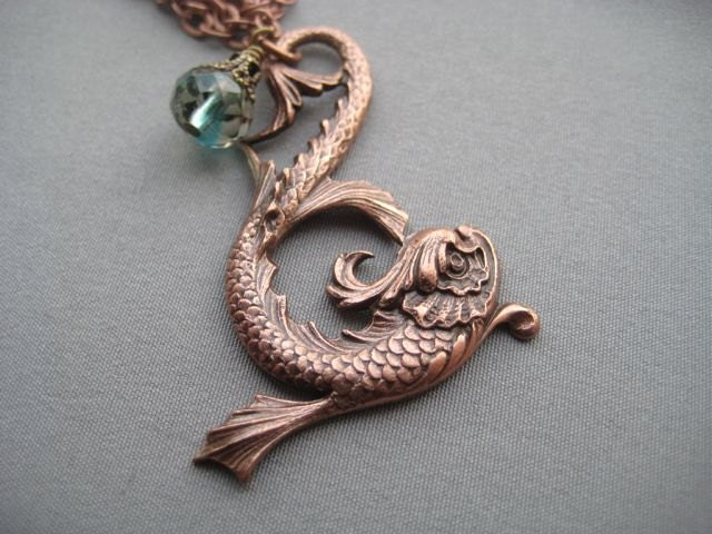 Koi fish necklace koi fish jewelry mythical jewelry fish for Koi fish ring