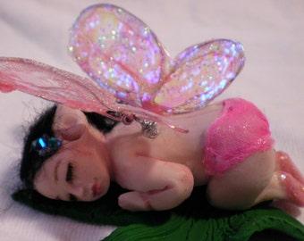 pixie fairy polymer clay baby birthstone art doll fairy