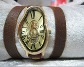 Leather Watch, Steampunk Watch, Ladies watch, Mechanical Watch Ladies, women watch, watch for women, Anniversary gift, Mother of the bride