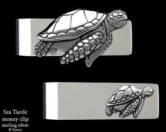 Sea Turtle Money Clip Sterling Silver