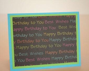 Birthday Card-  Best Wishes