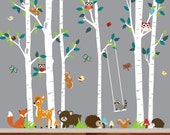 wall decal trees vinyl wall sticker wall decal children wall decal bedroom wall decal nursery the decal