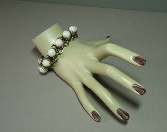 Vintage White Link Bracelet