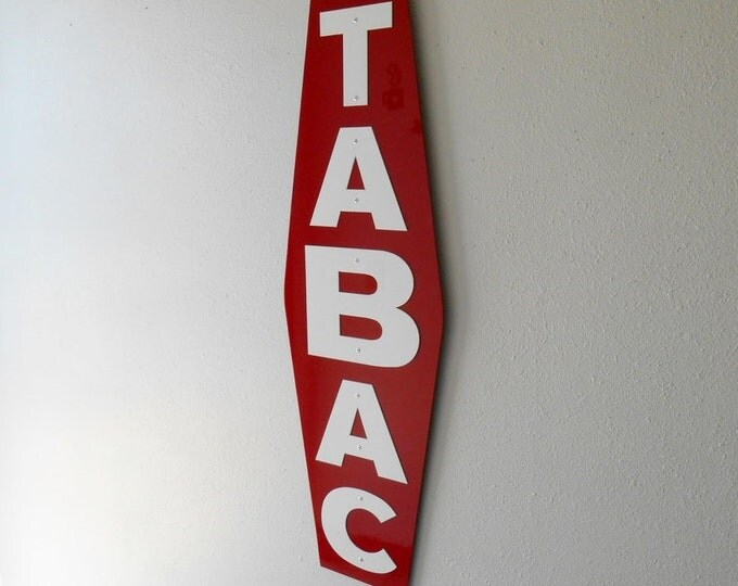 Tabac Sign, French, Man Cave, Tobacco, Paris, Metal Art, Decorative, France