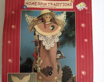 Vintage Homespun Traditions Painted Wooden Doll Kit