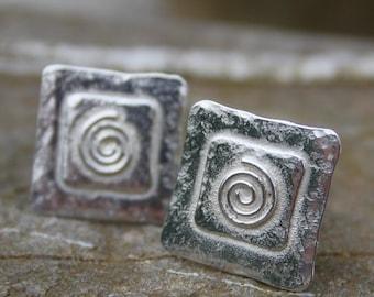 Sterling Silver Spiral Cufflinks