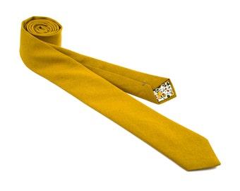 Mustard Linen Necktie