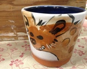 LIMITED EDITION Hyena Cups!  Handpainted majolica so each is slightly different.