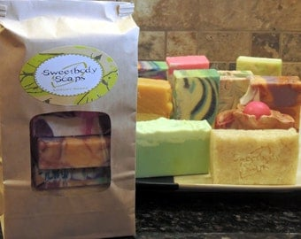 Clearance Bag of 6 Handmade Cold Process Soaps  - The Good, the Sad and the Ugly Soaps