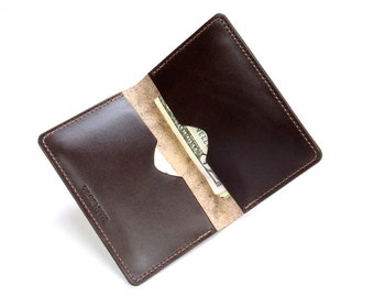 Leather Wallet,  Mens Wallet, Womens Wallet, Brown Wallet, Leather Credit Card Wallet, Brown Leather Wallet, Simple Wallet