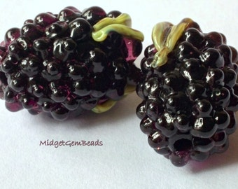 Bramble Beads  - Lampwork Beads -  SRA - UK