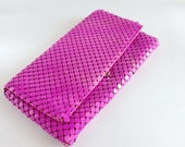 Hot Pink Chain Mail Clutch