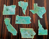 I left my Heart in...Any State Patina Necklace