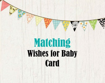 Book Insert or Wishes for Baby Card