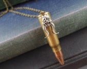 Dragon hunter---Vintage large empty bullet,Recycled empty bullet necklace