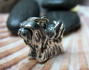 Sterling Silver Lhasa Apso Dog Charm 3D Figural 4.72 grams