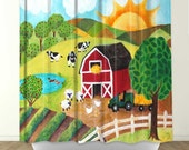 Shower Curtain - Daybreak on The Farm - Bathroom Decor