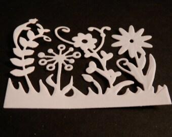 Flowers  DIE CUTS, white