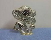 Mushroom and Snail Earring Display - Torino Golden Metal Super Adorable