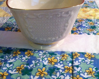 Vintage Lenox  Canterbury Sqaure Bowl or Candy Dish Made in The USA