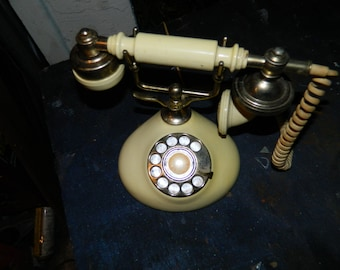 WOW! Vintage Victorian French Phone - Make it Steampunk! 1960s in cool condition