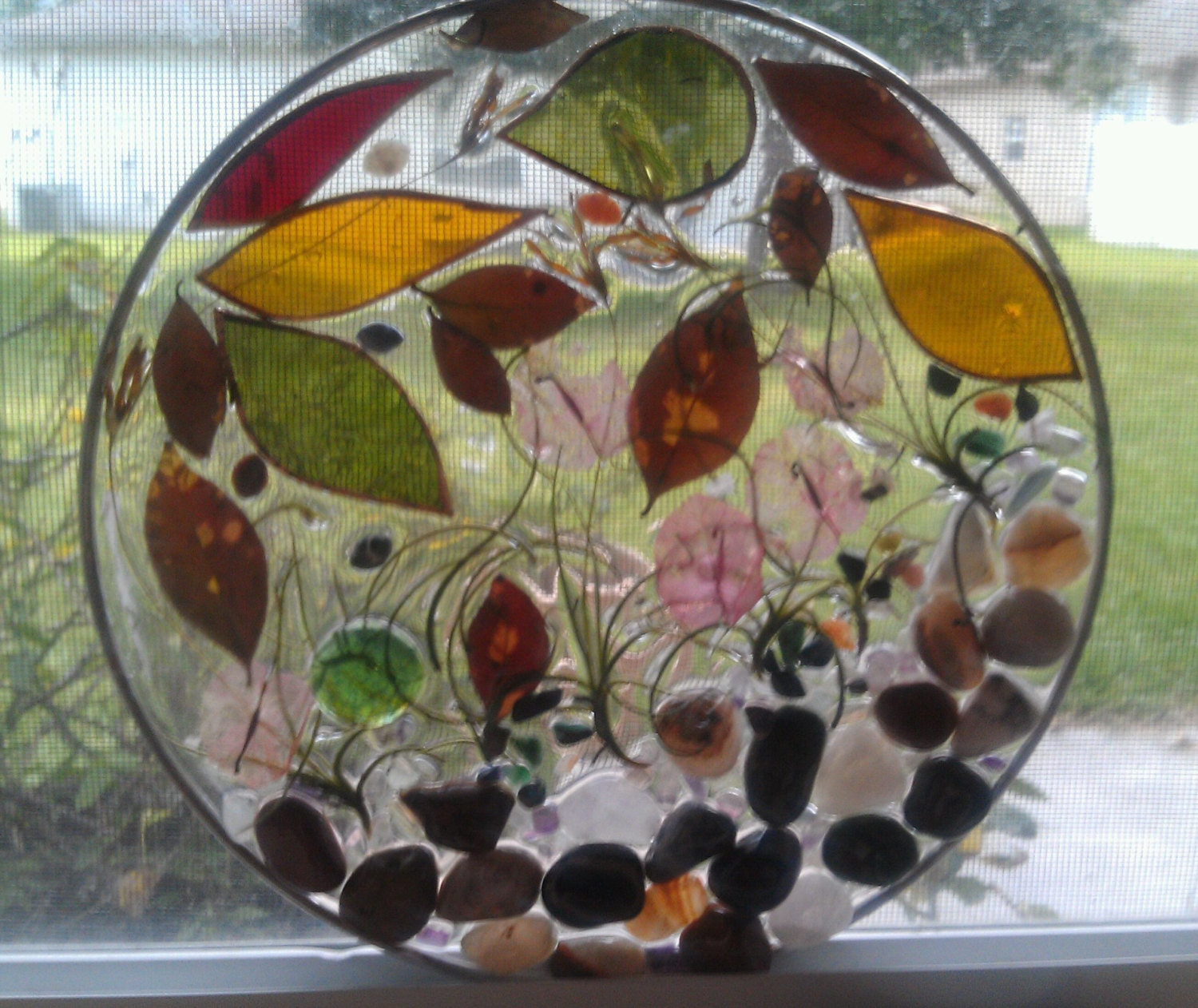 Resin Glass Panels : Stained glass epoxy resin sun catcher by shannonbrennanetc